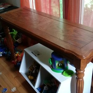 Oak couch table